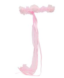 Party Princess Flower Wreath Head Band - Pink