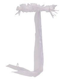 Party Princess Flower Wreath Head Band - White