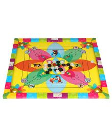 Abhiyantt 3 In 1 Carrom Board - Multi Color
