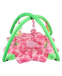 Abhiyantt Flower Design Play Gym - Pink And Green