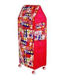 Amardeep Multipurpose Toy Box - Red