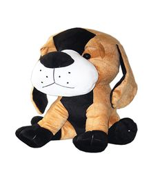 Amardeep Soft Toy Dog Brown And Black - 30 cm