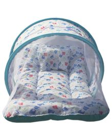 Amardeep Toddler Mattress With Mosquito Net Teddy - Blue