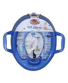 Amardeep Baby Potty Trainer Seat Cushioned With Handle - Blue