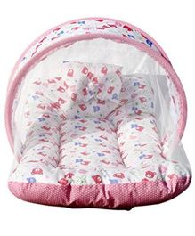 Amardeep Toddler Mattress With Mosquito Net - Pink