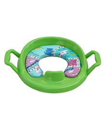 Amardeep Baby Potty Trainer Seat Cushioned With Handle - Green