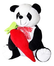 Amardeep Panda With Carrot Black - 31 cm