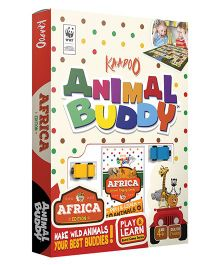 Kaadoo Animal Buddy Africa Edition Board Game - Multicolor