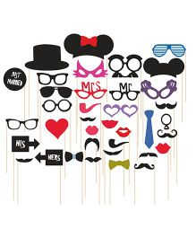 Syga Party Props Set 36 Pieces - Multicolor