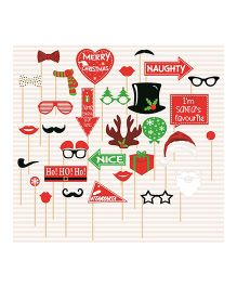 Syga Christmas Party Props Set 31 Pieces - Multicolor