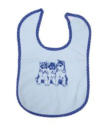 Buzzy Baby Bib Printed - Light Blue