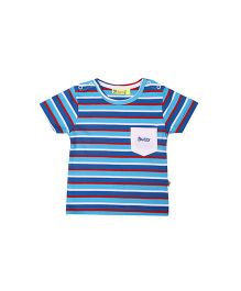 Buzzy Half Sleeves Stripes T-Shirt - Blue