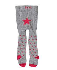 Buzzy Tights Star Design - Grey