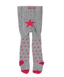 Buzzy Tights Star Design - Grey