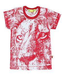 Buzzy Half Sleeves Printed T-Shirt - Red