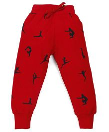 Doreme Full Length Printed Track Pants - Red