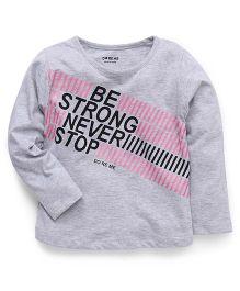 Doreme Full Sleeves T-Shirt Strong Print - White
