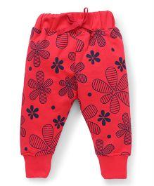Doreme Full Length Track Pants - Red