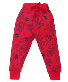Doreme Full Length Track Pants Floral Print - Pink