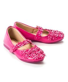Pikaboo Flowery Feet Mary Jane Shoes - Fuchsia