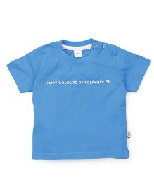 ToffyHouse Half Sleeves T-Shirt - Light Blue