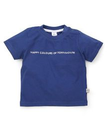 ToffyHouse Half Sleeves T-Shirt - Blue