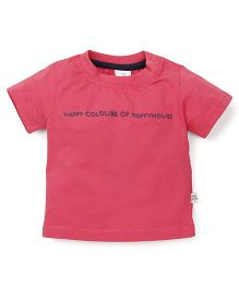 ToffyHouse Half Sleeves T-Shirt - Cherry Red