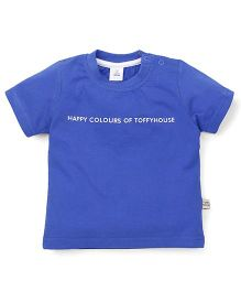 ToffyHouse Half Sleeves T-Shirt - Royal Blue