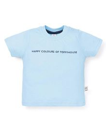 ToffyHouse Half Sleeves T-Shirt - Sky Blue
