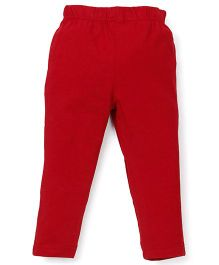 ToffyHouse Full Length Plain Leggings - Red