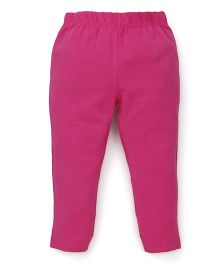 ToffyHouse Full Length Plain Leggings - Dark Pink