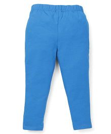 ToffyHouse Full Length Plain Leggings - Turquoise Blue