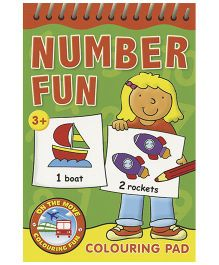 Number Fun Colouring Pad Green - English