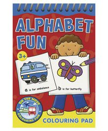 Alphabet Fun Colouring Pad Red - English