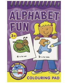 Alphabet Fun Colouring Pad Purple - English
