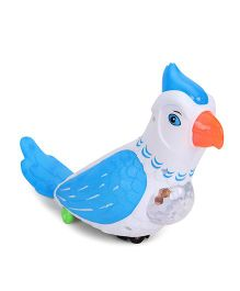 Playmate Happy Parrot - Blue & White