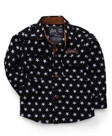 Little Kangaroos Full Sleeves Star Print Shirt - Black