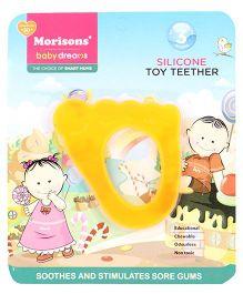 Morisons Baby Dreams Silicone Teether Foot Shape - Orange