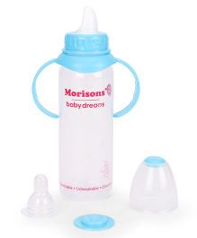 Morisons Baby Dreams Feeding Bottle With Handle Blue - 250 ml