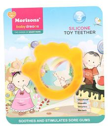 Morisons Baby Dreams Hand Shaped Silicone Toy Teether - Orange