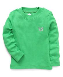 Vitamins Full Sleeves Top Solid Color - Green