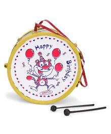 Luvely Musical Drum Toy Happy Birthday Print - Henna Green White