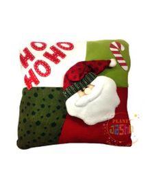 Planet Jashn Santa Cushions With Filling - Multicolor
