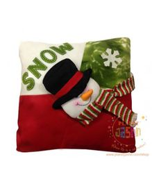 Planet Jashn Snowman Cushions With Filling - Multicolor
