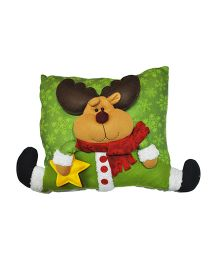 Planet Jashn Reindeer Cushions With Filling - Multicolor