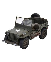 New Ray Pull Back Jeep Willys - Green