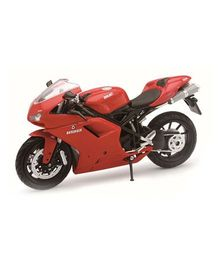New Ray Toy Bike Die Cast Ducati 1198 Model Kit - Red