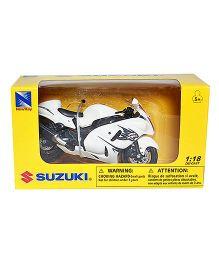 New Ray Die Cast Toy Bike Suzuki Hayabusa - White