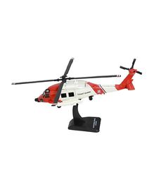 New Ray Die Cast Toy Helicopter Sikorsky HH60JJA Hawk - Red And White