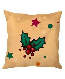 StyBuzz cherry Christmas Cushion Cover - Beige And Green